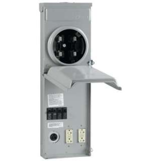 GE 100 Amp Metered Temporary Power Outlet Box R038C010 at The Home