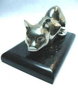 Nice bronze cat art deco style on marble base