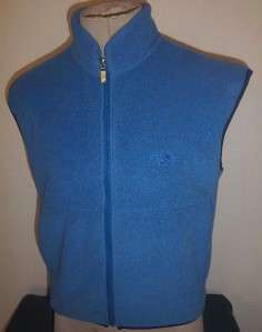 THE NORTH FACE Mens or Womens ZIP FRONT FLEECE VEST   Logo   Blue
