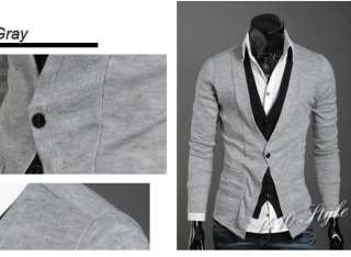 NWT Mens Premium Stylish Double Patched Cardigan M L XL