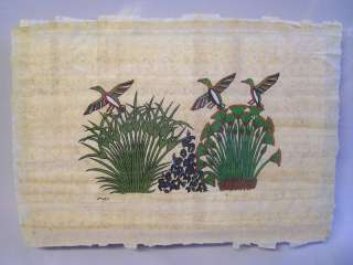 hand painted rice paper art ducks tropical flowers