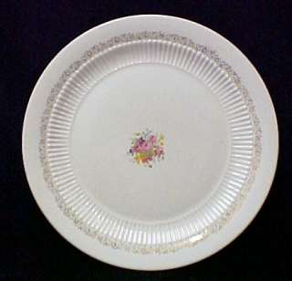 Vintage Cake Plate Royal China Rose Basket 22K Gold