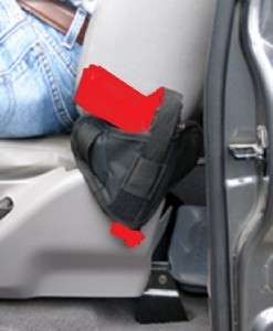 VEHICLE CAR TRUCK SEAT GUN HOLSTER SMALL COMPACT AUTO FITS RUGER 380