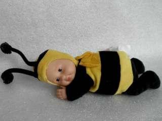 ANNE GEDDES Small BABY BUMBLEBEE plush velvet DOLL