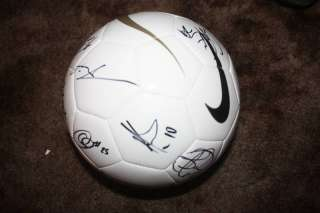 NEW YORK RED BULLS SIGNED MLS 2010 NIKE SOCCER BALL