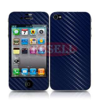 5x Carbon Fiber Skin Sticker Cover Full Body Protector For Iphone 4S