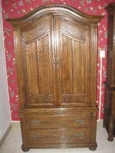 ... Ethan Allen Royal Charter Oak 220 Jacobean Armoire ...