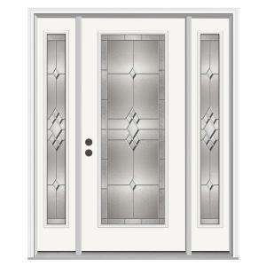 JELD WEN Kingston 36 in. x 80 in. Primed White Prehung Right Hand Full