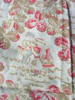 Vintage Feed Sack Fabric Children Picking Berries