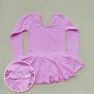 Girls Gymnastics Dance Dress Skate Skirt 4 10Y Long Sleeves Ballet