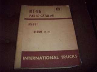 1954 International Model R 160 4X4 Truck Parts Catalog