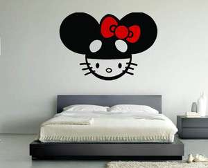 Hello Kitty DJ Deadmau5 Room Wall Vinyl Art Decal Sticker