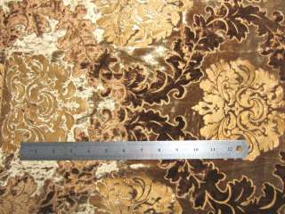 Meter Gold Elegant Embroider Velvet Sofa/Cushion Cover Fabric Material