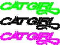 Cat Girl ~ Arctic Snowmobile Sticker/Decal/Graphic