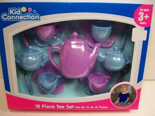 TEA SET AGES 3+ YEARS PLASTIC KID CONNECTION GIRLS PRETEND PLAY NEW