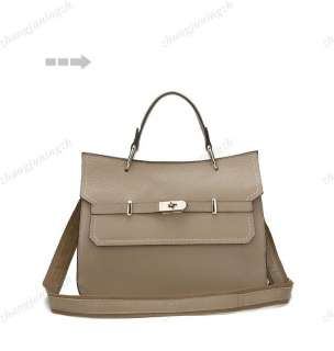 Genuine Leather Purse Satchel Hand Bag Tote Briefcase Women Office