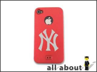 New York Yankees MLB Logo For i Phone 4 4S Hard Metal Aluminum Alumor