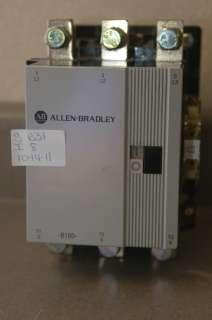 USED ALLEN BRADLEY CONTACTOR 100 B180N*3 120/60 110/50 600 V MAX