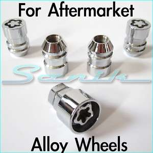 Land Rover FREELANDER Wheel/Rim Lug Lock Nut Set 12x1.5