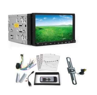 Car Stereo 7 Touch Screen DVD Player Radio USB SD Audio+Camera