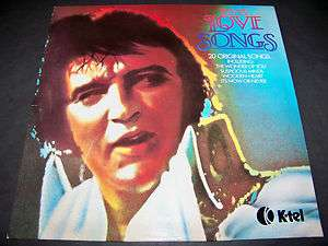 ELVIS PRESLEY / LOVE SONGS / 1979 UK PRESS K TEL / LP