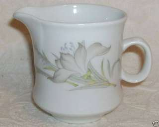 Renoir China DAFFODIL Creamer Cream Pitcher Gray Floral