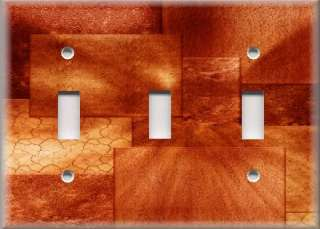 Light Switch Plate Cover   Wall Decor   Orange Hues
