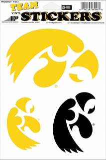 Iowa Hawkeyes Die Cut Vinyl Decal Stickers 3 Large 072118253371
