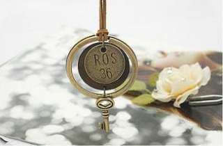 V4789 New Fashion Jewelry Retro key ring combined sweater chain