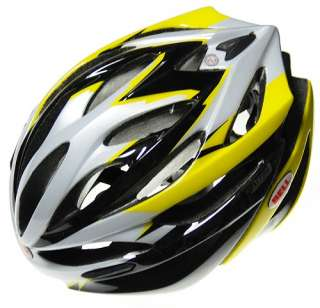 Bell Array Black / Yellow Road Bike Helmet (Large)