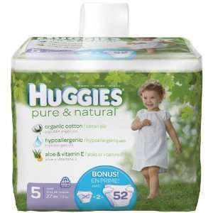 Huggies Pure & Natural Diapers 104 count, size 5 CHEAP!
