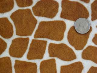 GIRAFFE SPOTS RUST MINKY CUDDLE WILD ANIMAL PRINT SEW CRAFT QUILT