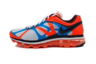 Nike Mens Air Max +2012 White Orange Blue 487982 106