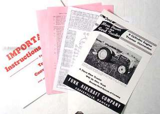 Ford 8N Tractor 8 Cylinder Funk Conversion Instructions