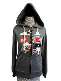 NEW Paul Frank Julius&Friends Hoodie Jacket Built In Headphones