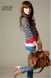 Fashion Campus Girl Casual Preppy Style Stripe Top Cardigan Short