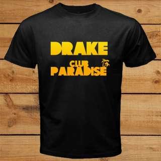 DRAKE Club Paradise Tour US Live Concert 2012 Black OVOXO T Shirt Tee