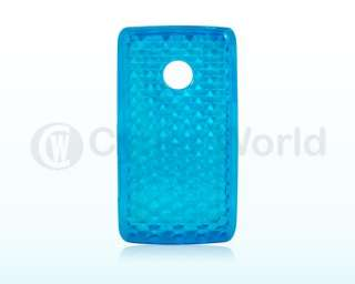 BLUE GEL SILICONE CASE COVER FOR LG COOKIE LITE T300