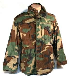USGI Military Army Woodland Camo M 65 M65 Field Coat Jacket Small