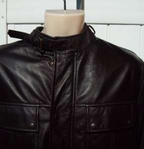 Ralph Lauren Mens black label leather bomber jacket xl