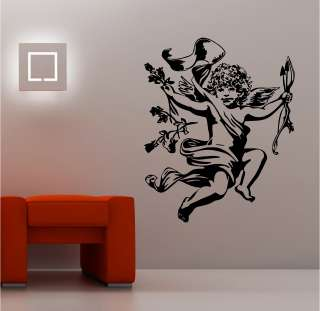 STUNNING ANGEL CHERUB wall art sticker vinyl quote BEDROOM LOUNGE KIDS
