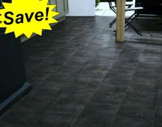 Black Slate Vinyl Floor Tiles Kitchen Hall Bathroom +