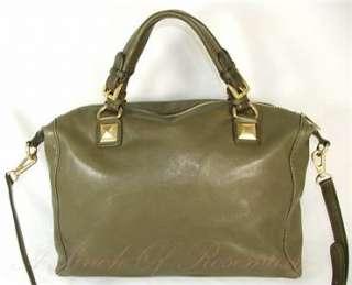 Michael Kors Leather Calista Large Satchel Bag Purse Duffle Olive