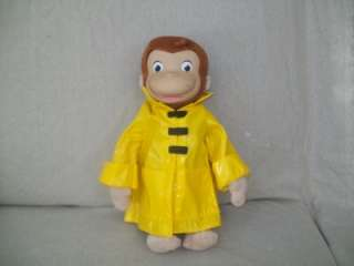MARVEL TOYS CURIOUS GEORGE PLUSH/ RAINCOAT RUBBER FACE