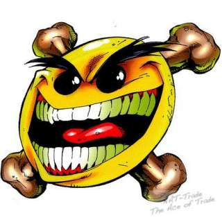 Aufkleber Sticker Fieser Smiley Bone Hot Rod RockaBilly