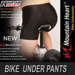 New mens Cycling Bike Bicycle PADDED under SHORTS S~3XL