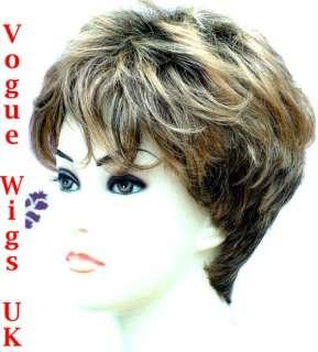 Boycut Style Short Brown Blonde Lady Wig Vogue Wigs UK