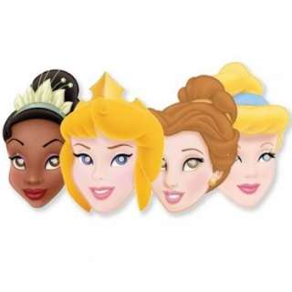 Disney Princess Party Card Masks
