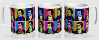 Scotlands national bard depicted in vibrant Warhol style pop art