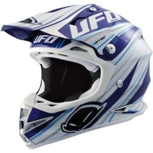 NEW BLU BIANCO UFO WARRIOR H1 CASCO CROSS QUAD ENDURO S